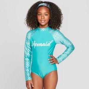 Teal Mermaid One-Piece Swimsuit